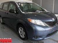 CARFAX One-Owner. BLUE 2015 Toyota Sienna L 7 Passenger