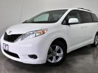CARFAX One-Owner. White 2015 Toyota Sienna LE FWD