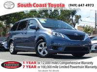 CARFAX One-Owner. Certified. 2015 Toyota Sienna LE FWD