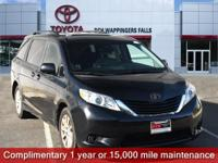 Certified. Attitude Black 2015 Toyota Sienna LE 7