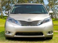 Certified. White 2015 Toyota Sienna LE FWD 6-Speed