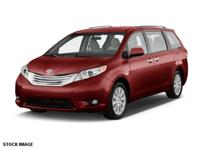 2015 Toyota Sienna XLE New Price! CARFAX One-Owner.