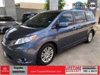 New Price! CARFAX One-Owner. Blue 2015 Toyota Sienna