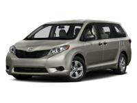 Gray 2015 Toyota Sienna XLE FWD 6-Speed Automatic