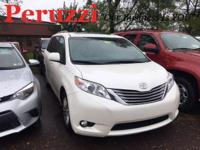CARFAX One-Owner. Blizzard Pearl 2015 Toyota Sienna XLE