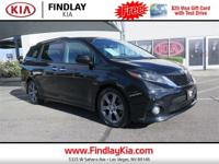 CARFAX One-Owner. Black 2015 Toyota Sienna SE 8