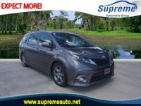 CARFAX One-Owner. Gray 2015 Toyota Sienna SE 7