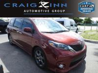 CARFAX 1-Owner! This 2015 Toyota Sienna LEATHER, has a