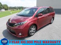 This 2015 Toyota Sienna 5dr 8-Pass Van SE FWD is