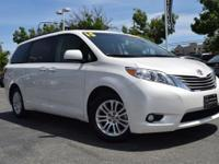 CARFAX One-Owner. White 2015 Toyota Sienna XLE 7