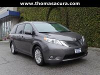 CARFAX One-Owner. Clean CARFAX. Gray 2015 Toyota Sienna