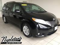 Recent Arrival! 2015 Toyota Sienna in Black, Bluetooth,