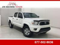 Clean CARFAX. White 2015 Toyota Tacoma V6 4WD 5-Speed