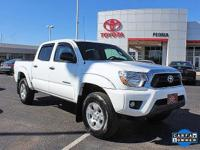 Certified. 2015 Toyota Tacoma V6 Super White Clean