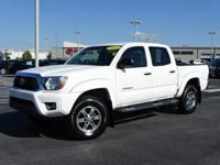 New Price! Clean CARFAX. Super White 2015 Toyota Tacoma
