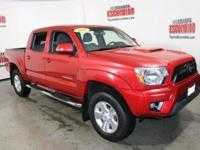 Certified. Barcelona Red 2015 Toyota Tacoma PreRunner