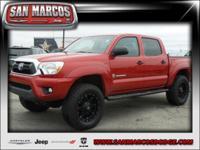 Options:  2015 Toyota Tacoma|Red/|V6 4.0 L Manual|32731