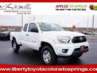SUPER WHITE exterior and GRAPHITE interior, Tacoma