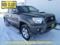 Clean CARFAX. Gold 2015 Toyota Tacoma V6 4WD 6-Speed