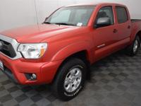 CARFAX One-Owner. Barcelona Red 2015 Toyota Tacoma V6