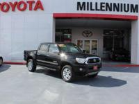 Certified. Black 2015 Toyota Tacoma 4WD 5-Speed