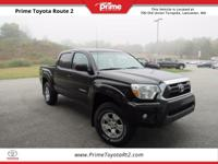 Certified. 2015 Toyota Tacoma TRD OFF ROAD in Black.