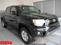 CARFAX One-Owner. Certified. BLACK 2015 Toyota Tacoma