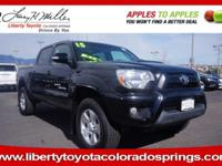 CARFAX 1-Owner. Tacoma trim, BLACK exterior and