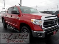 2015 Toyota Tundra CrewMax TRD Off Road Barcelona Red