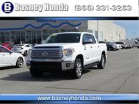 White 2015 Toyota Tundra Limited CrewMax 4WD 6-Speed