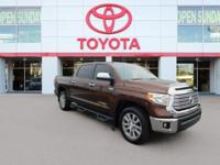 Clean CARFAX. Certified. Bronze 2015 Toyota Tundra