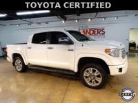 Toyota Certified, Platinum 4WD, Navigation System,