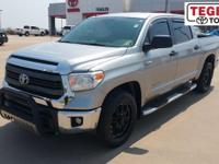 Clean CARFAX. Certified. Silver 2015 Toyota Tundra SR5