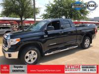 CARFAX One-Owner. Black 2015 Toyota Tundra SR5 4WD