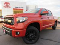 This is an authentic TRD-Pro Tundra in Inferno orange,