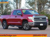 2015 Toyota Tundra  CARFAX One-Owner. 4WD, Cloth.