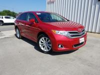 CARFAX One-Owner. Clean CARFAX. Red 2015 Toyota Venza