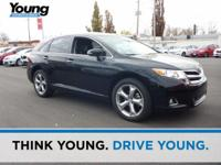 CARFAX One-Owner. Clean CARFAX. Black 2015 Toyota Venza