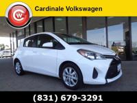 CARFAX One-Owner. Clean CARFAX. White 2015 Toyota Yaris