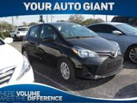 Come see this 2015 Toyota Yaris L. Its Automatic
