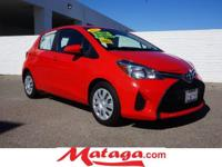 2015 Toyota Yaris SE in Absolutely Red with Black