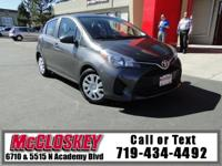 ONE OWNER, ONLY 33K Miles! 2015 Toyota Yaris! A smart