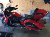 2015 victory cross country tour 1700 miles new