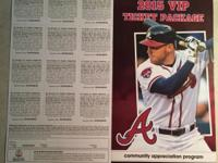 I have a 2015 VIP TICKET PACKAGE FOR BRAVES - worth