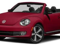 2015 Volkswagen Beetle Convertible, Pure White/Black