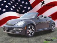 Black 2015 Volkswagen Beetle 2.0T R-Line FWD 6-Speed