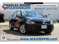 Certified. 2015 Volkswagen Golf TDI S 4-Door CARFAX