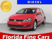 TDI S trim. CARFAX 1-Owner, GREAT MILES 19,898! EPA 43