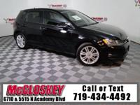 Capable and Luxurious 2015 Volkswagen Golf TDI SE w/