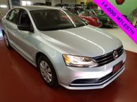 2015 JETTA, CERTIFIED UNDER FULL WARRANTY, WITH ONLY